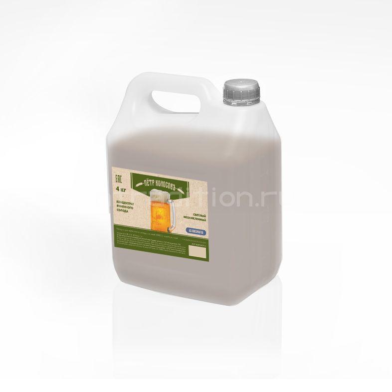 Солодовый концентрат ячменный неохмеленный, светлый, 4 кг (Россия)