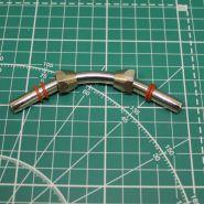 Переходник гайка M12x1 - трубка - гайка M12x1 (головка компрессора 1206, 1208 - ресивер) комплект с прокладками