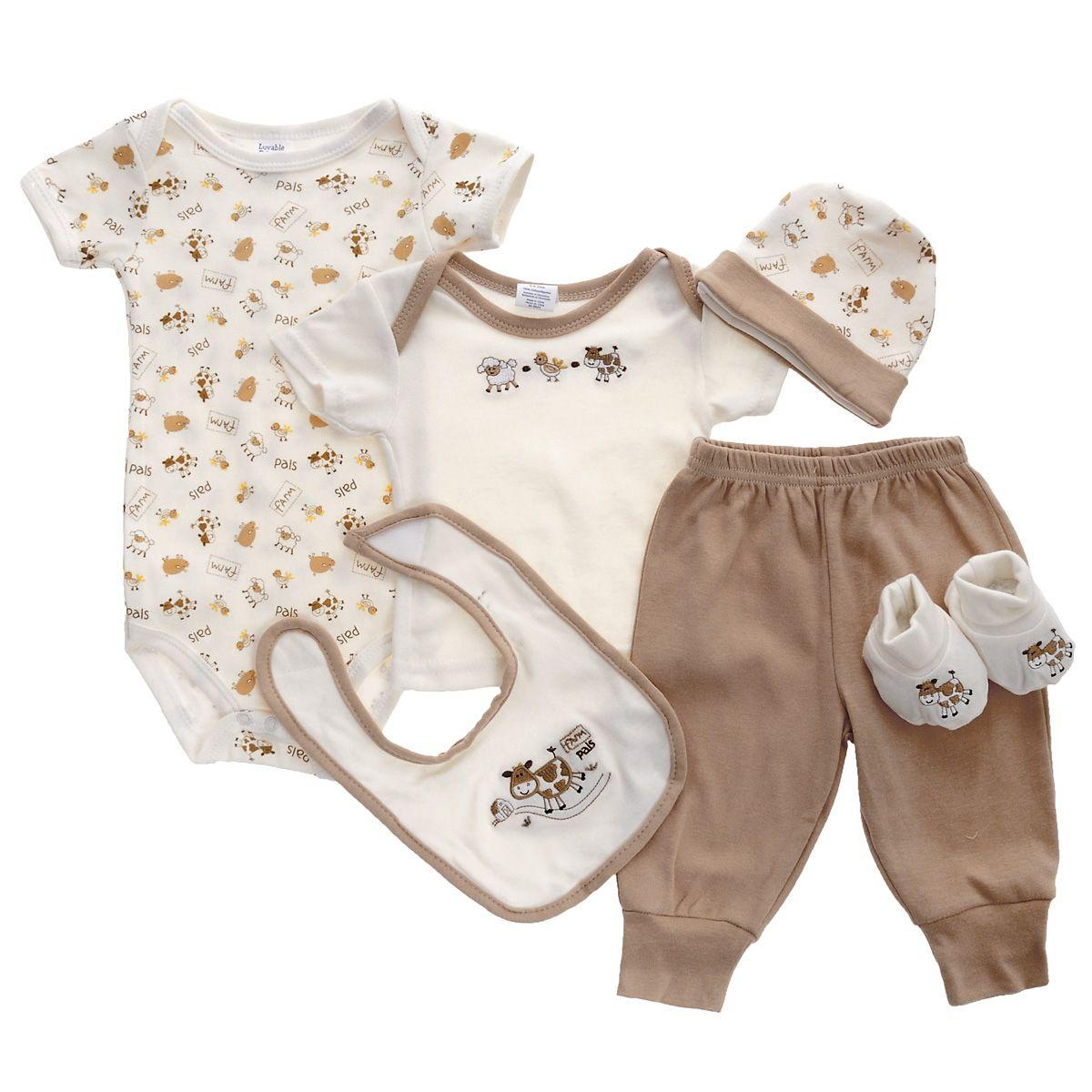 Подарочный комплект для новорожденного 6 пр. Luvable Friends 07026