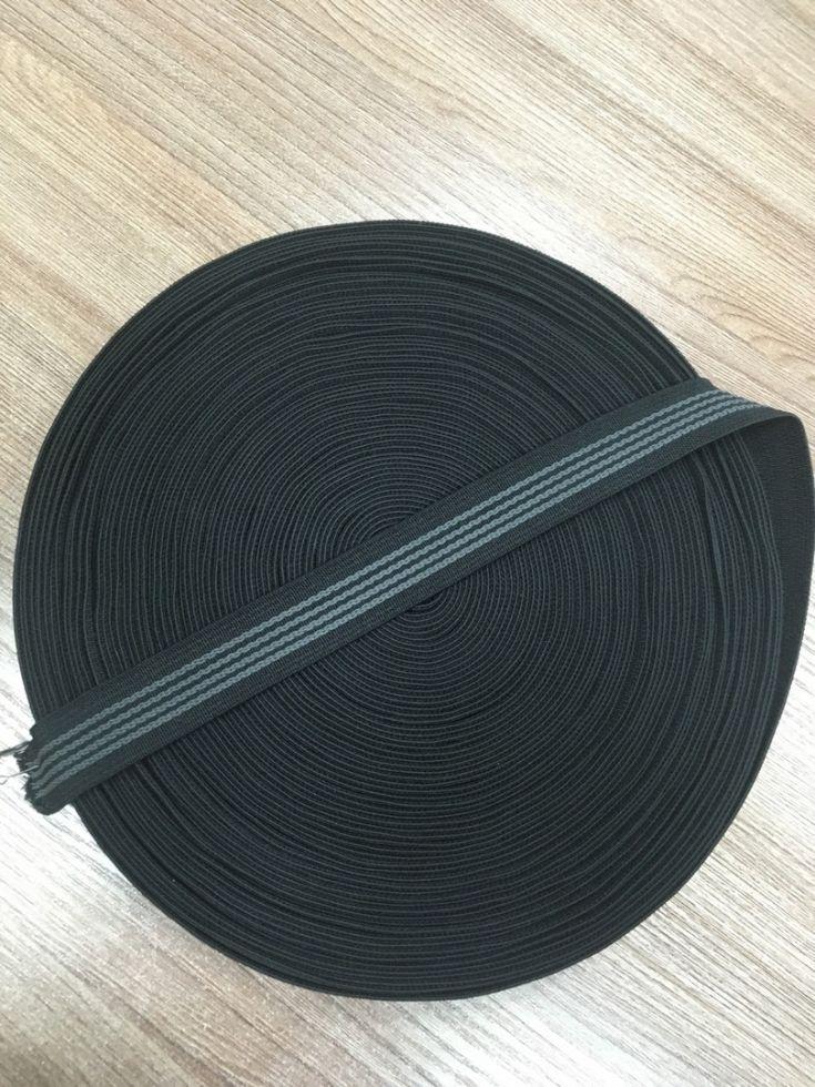 Резинка с латексной прошивкой черная