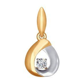 Подвеска из золота с фианитом 034732 SOKOLOV