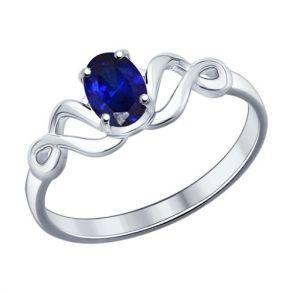 Кольцо из серебра с сапфиром 62010002 SOKOLOV