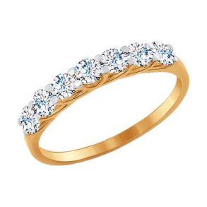 Кольцо дорожка из золота с фианитами 017052 SOKOLOV