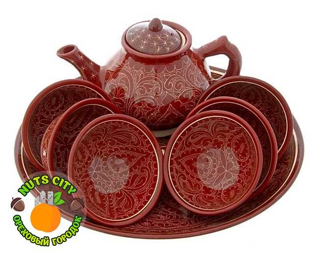 """набор узбекской посуды """"коричневый"""""""