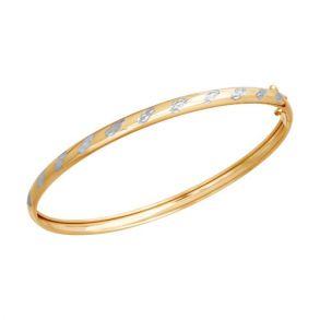 Браслет жёсткий из золота с алмазной гранью 050365 SOKOLOV