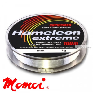 Леска монофильная Momoi Hameleon Extreme 100 м / цвет: прозрачный