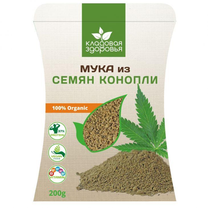 Мука из семян конопли, 200гр