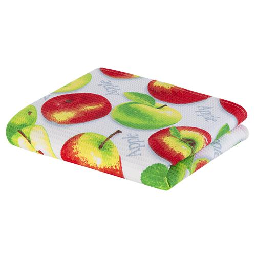 """Полотенце кухонное """"Яблочное угощение"""" вафельное"""
