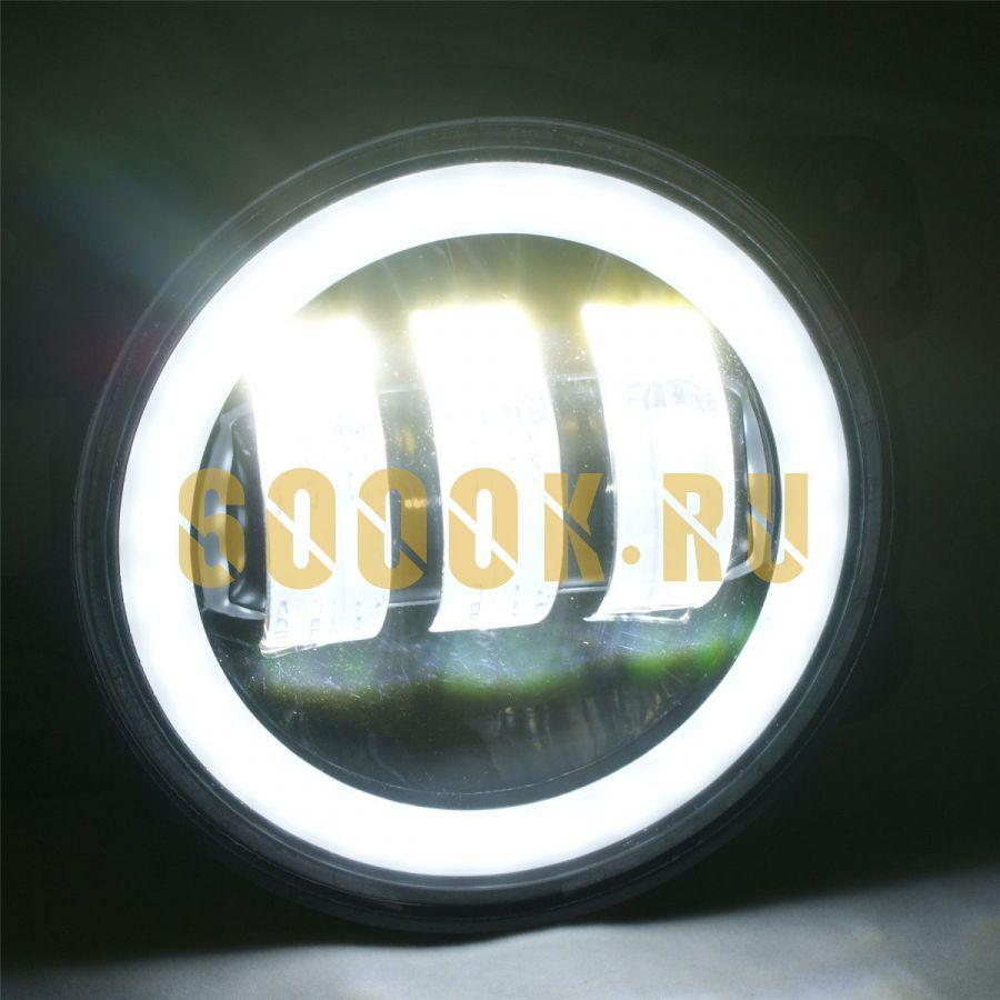 Комплект птф светодиодные фары 4 дюйма по 30 Вт с ДХО