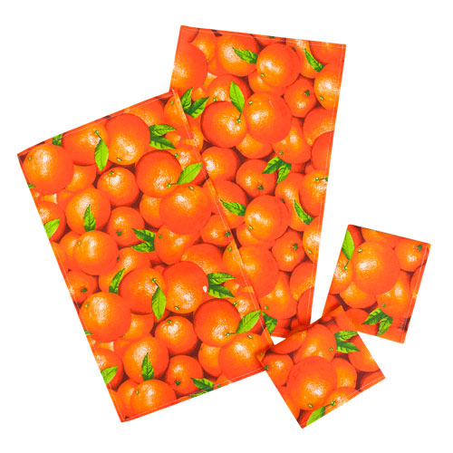 """Набор полотенец """"Ассорти-Апельсины""""  рогожка, (4шт-35х60)"""