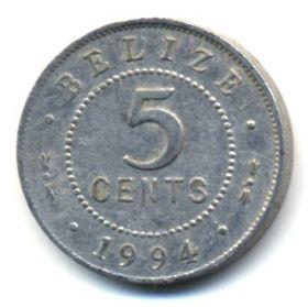 Белиз 5 центов 1994