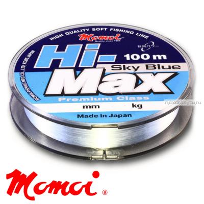 Леска монофильная Momoi Hi-Max Sky Blue 100 м / цвет: голубой