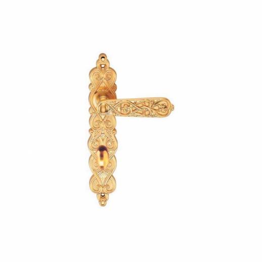 Ручка Дверная На Планке Archie, Arabesco S. Gold (Ol), Матовое ЗолотоФиксатор