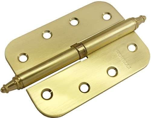 Стальная Дверная Петля Разъёмная С Короной, Morelli, Левая, Матовое Золото