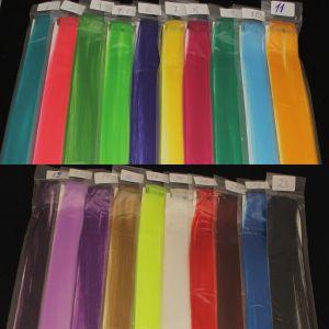`Прядь волос на заколке(искусственные), длина 50см, ширина 3,2см, цвет №12 темно-фиолетовый