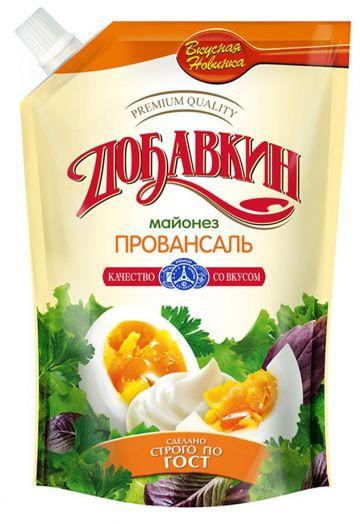 Майонез Добавкин Провансаль 50,5% д/пак 200мл