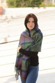 Теплая шаль  100 % стопроцентная шотландская овечья шерсть, расцветка Isle of Skye -остров Айл оф Скай, плотность 6
