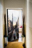 Наклейка на дверь -Прогулки по Амстел | магазин Интерьерные наклейки