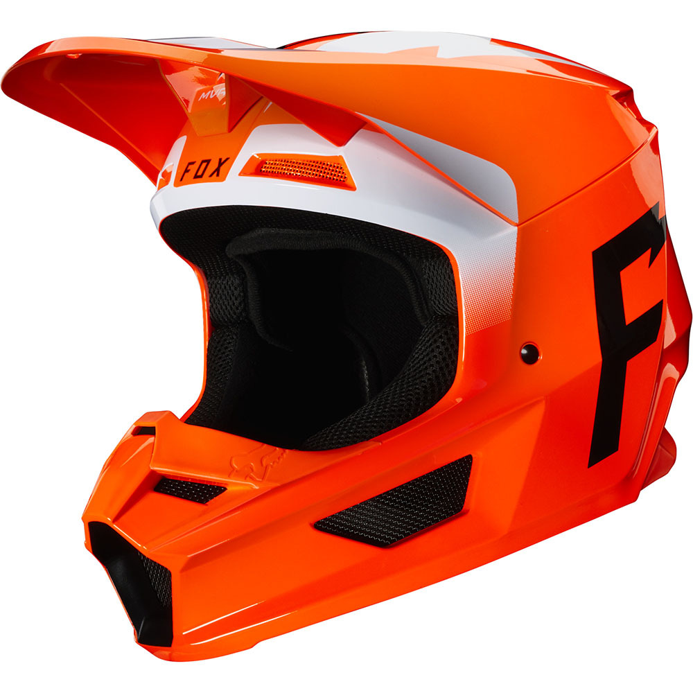 Fox V1 Werd Fluorescent Orange шлем, оранжевый