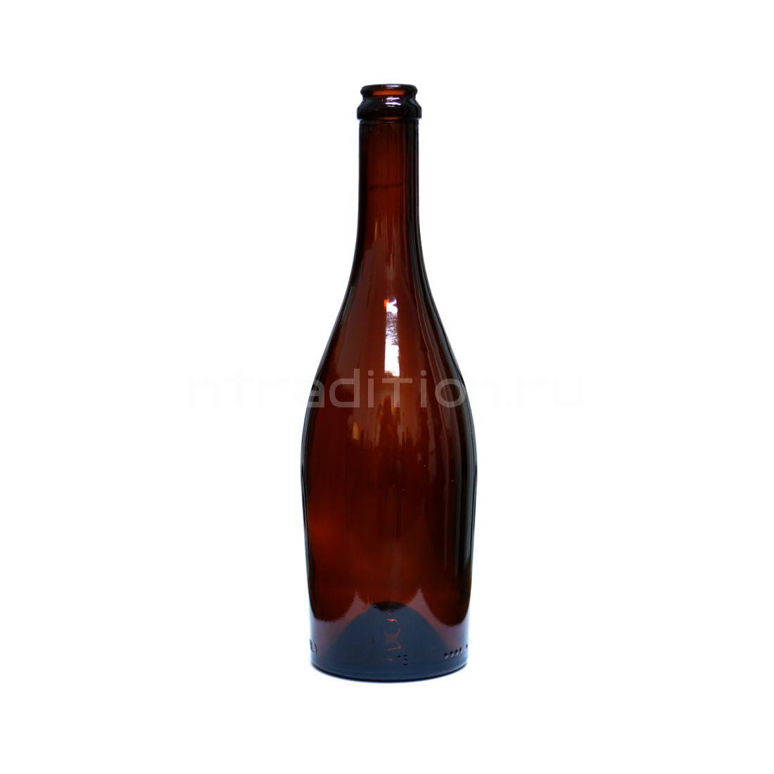 Бутылка Астра коричневое стекло (для игристых вин) 0,75 л / 9 шт.