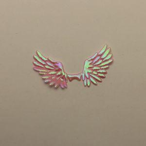 """Патч """"Крылья"""", 70*35 мм, цвет светло-розовый (1уп = 25шт)"""