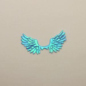 """`Патч """"Крылья"""", 70*35 мм, цвет голубой (1уп = 5шт)"""