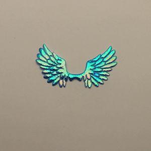 """`Патч """"Крылья"""", 70*35 мм, цвет синий (1уп = 5шт)"""