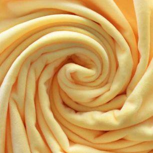 Мелковорсовый мех  Вельбоа - Желтый 50х40