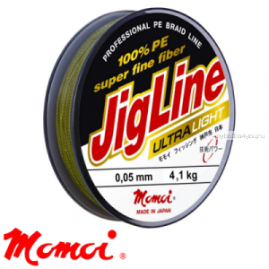 Леска плетеная Momoi JigLine Ultra Light Green 100 м / цвет: зеленый