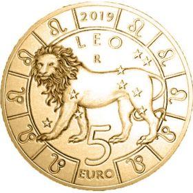 Знак Зодиака Лев 5 евро Cан-Марино 2019 на заказ