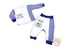 Костюм для мальчика с вешалкой: кофта, штаны dV2-KS013-ITpk (интерлок-пенье, заяц)