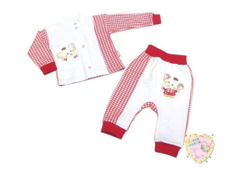 Костюм для девочки с вешалкой: кофта, штаны dV2-KS013-ITpk (интерлок-пенье, слоник)