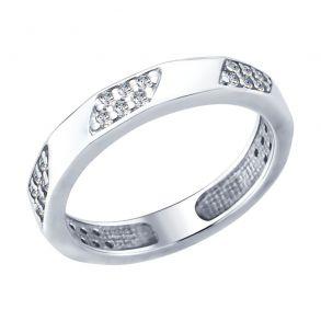Кольцо из серебра с фианитами 94012399 SOKOLOV