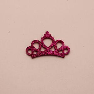 """`Патч """"Корона с блестками"""", 46*31 мм, цвет  фиолетовый (1уп = 5шт)"""