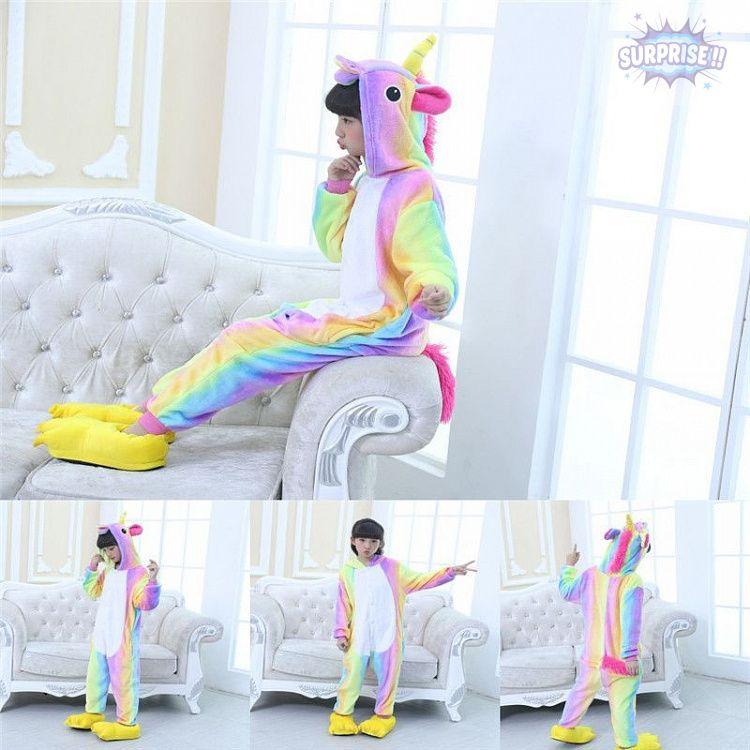 Кигуруми пижама-комбинезон Единорог яркий