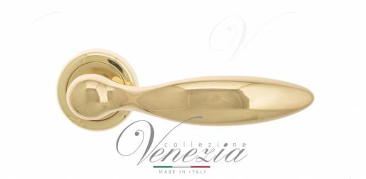 Дверная ручка Venezia MAGGIORE D1 полированная латунь