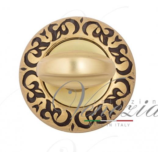 Фиксатор поворотный Venezia WC-2 D4 французское золото + коричневый