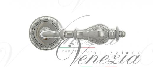Дверная ручка Venezia Gifestion D2 полированный хром