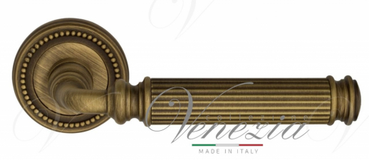 """Дверная ручка Venezia """"MOSCA"""" D3 матовая бронза"""