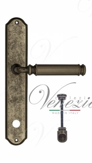 """Дверная ручка Venezia """"MOSCA"""" WC-1 на планке PL02 античное серебро"""