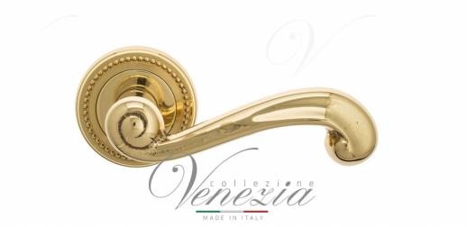 Дверная ручка Venezia Carnevale D3 полированная латунь
