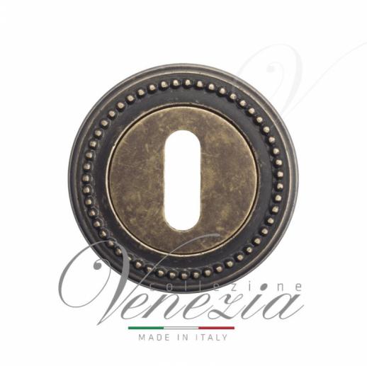 Накладка дверная под ключ буратино Venezia KEY-1 D3 античная бронза