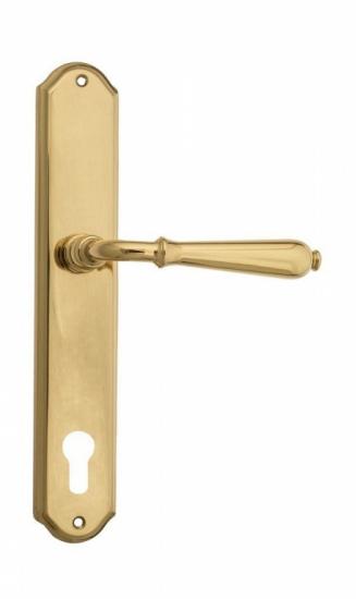 """Дверная ручка Venezia """"CLASSIC"""" CYL на планке PL02 полированная латунь"""