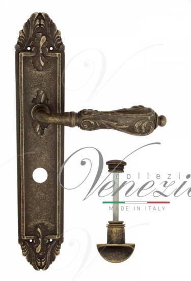 """Дверная ручка Venezia """"MONTE CRISTO"""" WC-2 на планке PL90 античная бронза"""