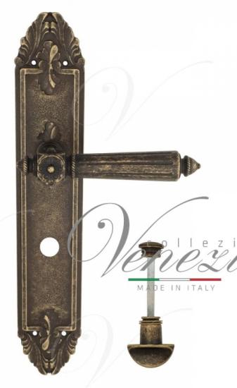 "Дверная ручка Venezia ""CASTELLO"" WC-2 на планке PL90 античная бронза"