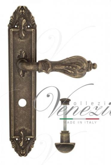 "Дверная ручка Venezia ""FLORENCE"" WC-2 на планке PL90 античная бронза"