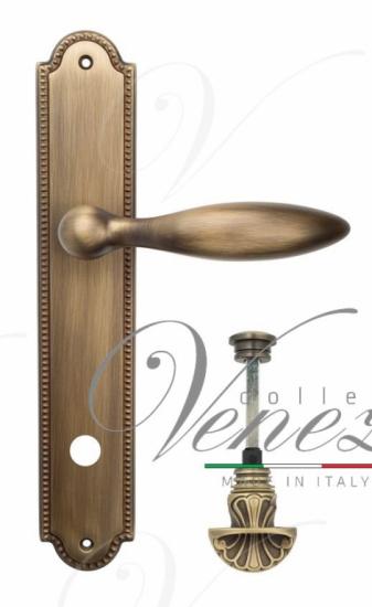 """Дверная ручка Venezia """"MAGGIORE"""" WC-4 на планке PL98 матовая бронза"""