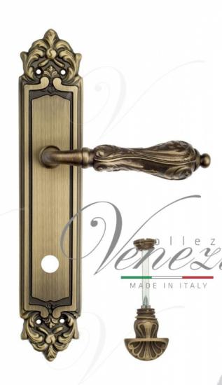 """Дверная ручка Venezia """"MONTE CRISTO"""" WC-4 на планке PL96 матовая бронза"""