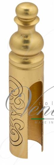 Колпачок для ввертных петель Venezia CP14 D с пешкой, рисунок D14 мм французское золото + коричневый