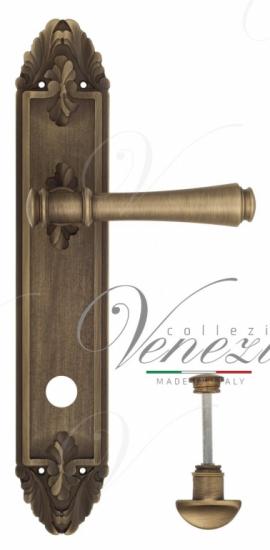 """Дверная ручка Venezia """"CALLISTO"""" WC-2 на планке PL90 матовая бронза"""